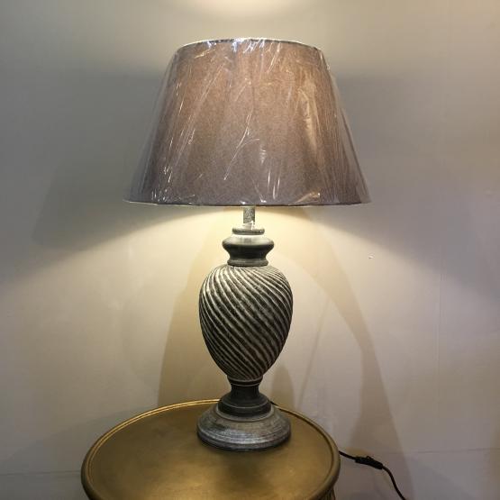 black carved lamp Simmons Interiors Grayshott Coach House