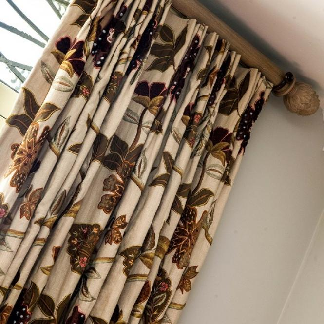 Mulberry curtains cushions upholstery curtain poles Simmons Interiors Hampshire Surrey Sussex