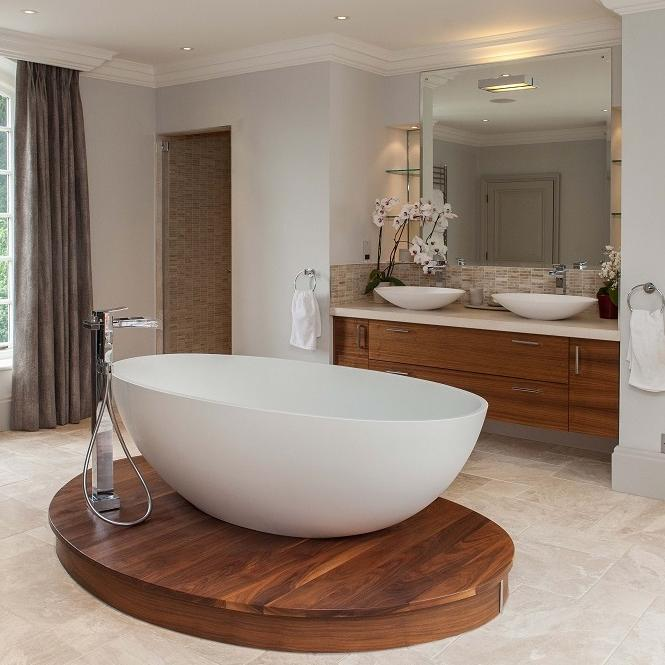 bath bathroom marble Simmons Interiors Hampshire Surrey Sussex