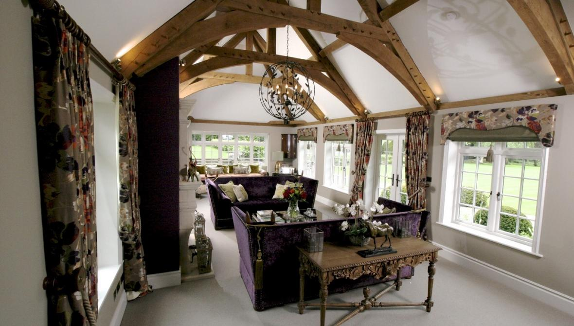 Mulberry upholstery curtains cushions George Smith sofa Julian Chichester Simmons Interiors Hampshire Surrey Sessex